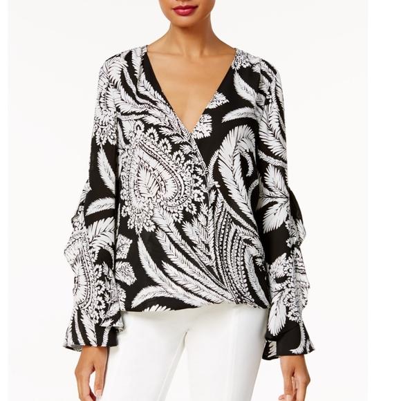 INC International Concepts Womens Anna Sui Loves Ruffled-Sleeve Cardigan